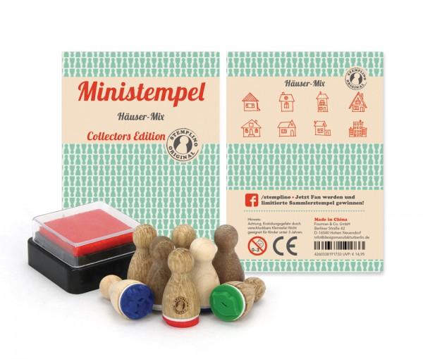 Ministempel Häuser - Mix
