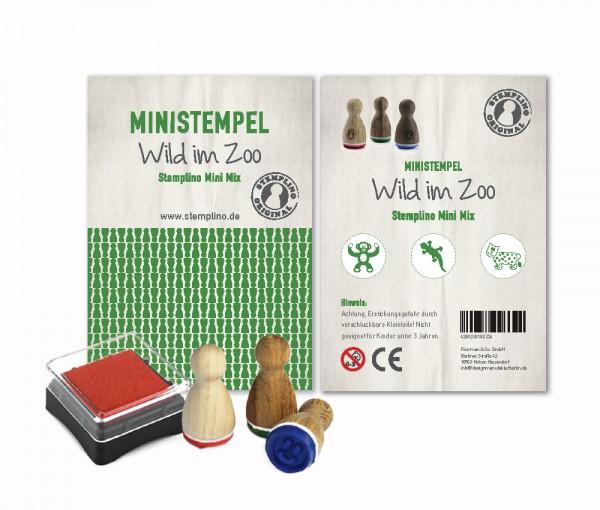Mini Stempel Stempelset 3er Pack Wild im Zoo