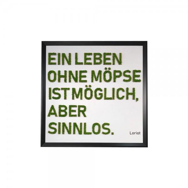 Moosly Moosbuchstabe Bild Loriot-Spruch