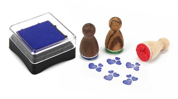 Ministempelkissen - blau