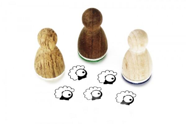 Ministempel Glotzi Schaf
